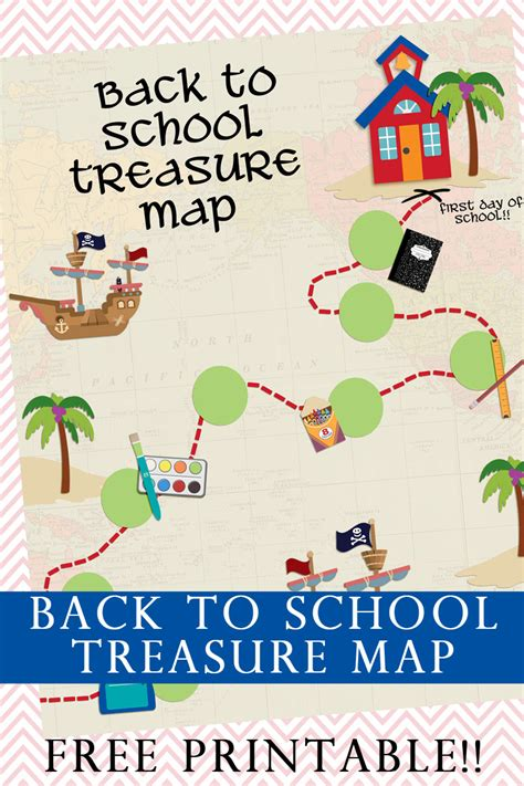 Home Decor Party Companies back to school treasure map your everyday family