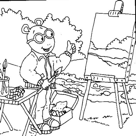 coloring and painting free arthur painting coloring pages fooooooood