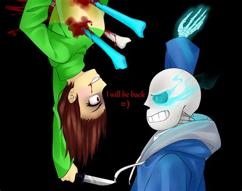 undertale fan no fanart undertale genocide route sans chara by