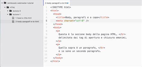 lettere accentate html guida html struttura della pagina paragrafi e link