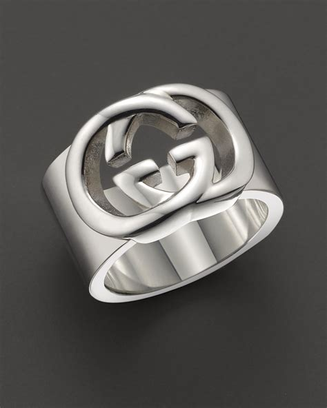 gucci sterling silver quot britt quot ring bloomingdale s