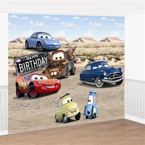 disney cars wall mural wall disney cars birthday wall mural decorating kit