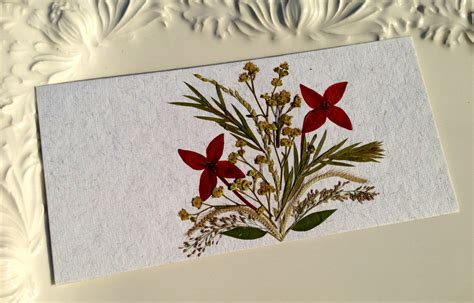 Handmade Cards With Flowers - handmade pressed flowers card on luulla