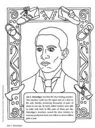 jan e matzeliger coloring sheet the inventor of the shoe
