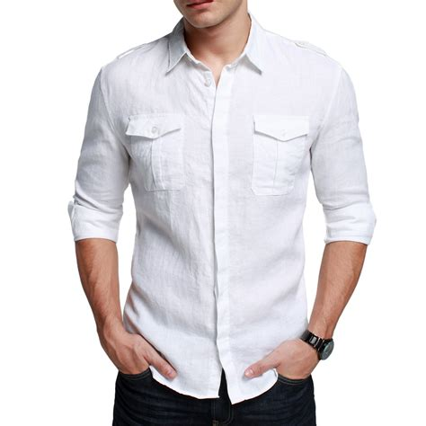 White Shirt White Casual Summer Shirt For White