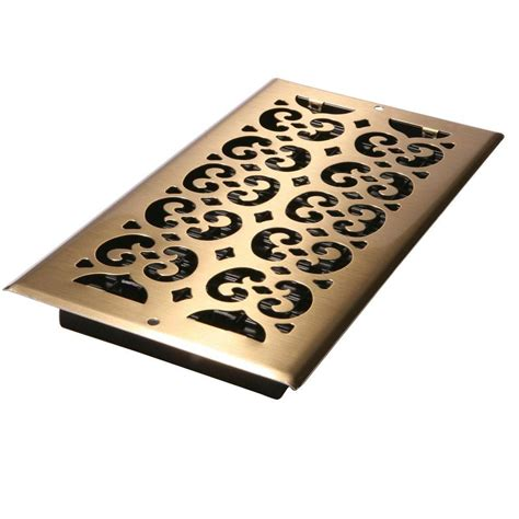decor home depot decor grates 6 in x 12 in antique brass plated steel