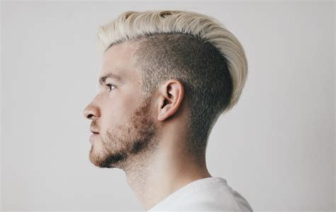 Mens Hairstyles Dyed Blonde | beards male platinum blonde hair color trends 2017