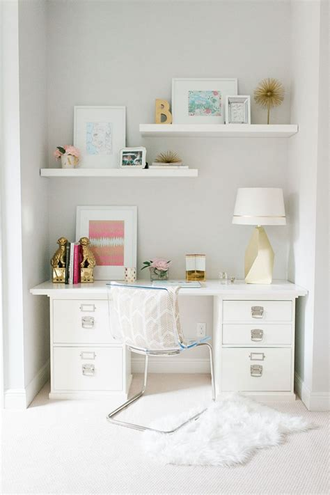 pink and white desk white gold pink office space beth aschenbach s palm