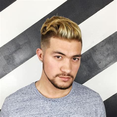mens hairstyles dyed blonde hair color 20 new hair color ideas for men 2017