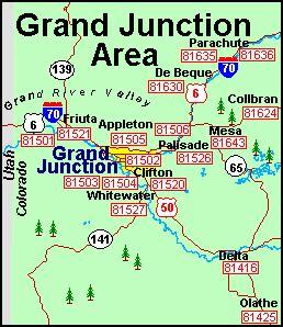 zip code map grand junction co grand junction colorado zip code map my blog