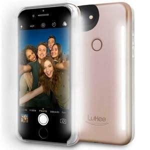 Lumee Iphone 6 6s Plus Selfie Powercase Power Casing Lu Har lumee iphone 6s plus 6 plus selfie light gold