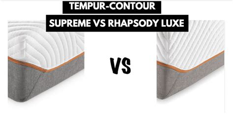 tempur contour supreme  rhapsody luxe