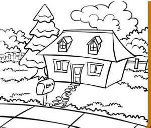 صور تلوين منازل للتلوين Pictures  sketch template