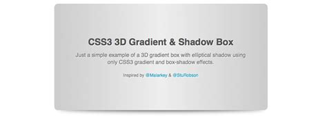 div style background css3 experiments 1 3d gradient box toolbox digital