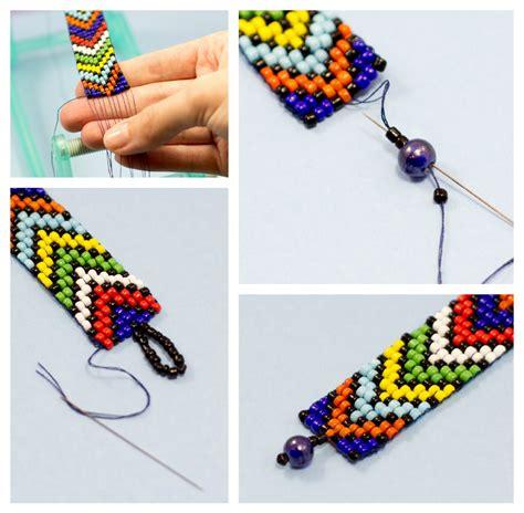 finishing a bead loom bracelet rock this diy loom bracelet with pride