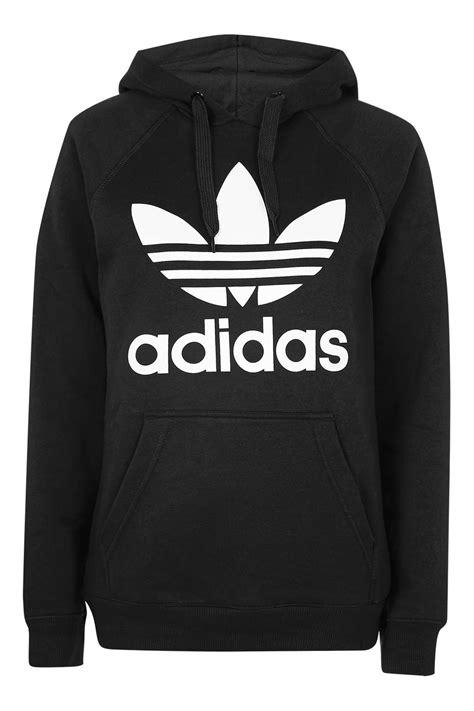 adidas hoodie trefoil hoodie by adidas originals topshop