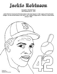 coloring page for jackie robinson black history coloring sheets doodles ave