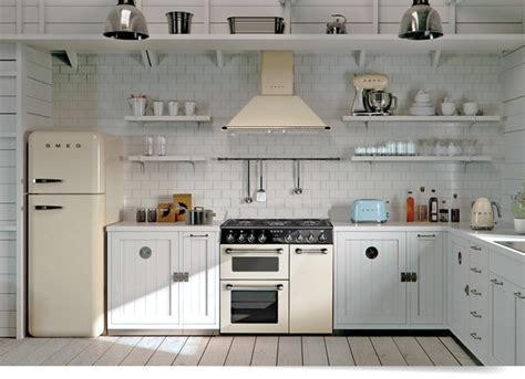 kitchen layout fridge next to cooker the smeg burghley bu93p range cooker in cream home