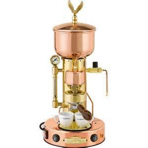 commercial cappuccino coffee machine elektra microcasa copper brass semiautomatica commercial