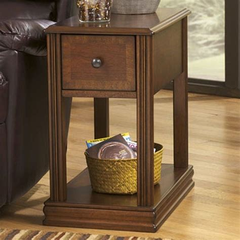 ashley furniture accent tables ashley furniture breegin 1 drawer end table in cherry