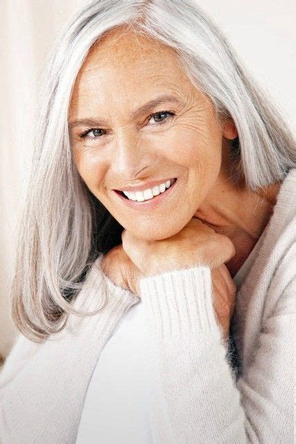 older models with gray hair ageing gracefully mature models pinterest ageing