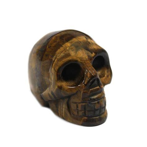 gemstone skull tiger eye gemstone figures stoneware