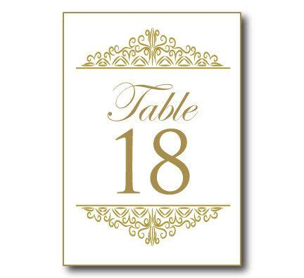 Gold Wedding Table Number Template Instant Download Editable Text Damask Gold Gold When We Were Table Numbers Template