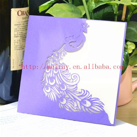 Unique Wedding Invitation Inserts by Unique Wedding Cards For Wedding Invites Peacock Theme