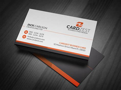 simple professional corporate business card template