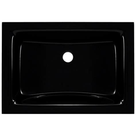 polaris sinks undermount glass sink in blackpug3191bl