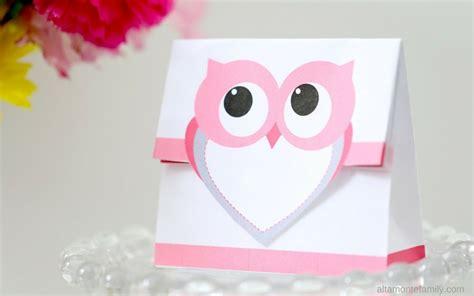 free printable treat bag valentines day owl