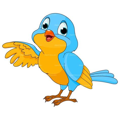 Cool clipart bird   Pencil and in color cool clipart bird