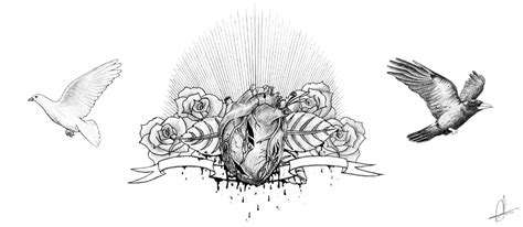 chest tattoo designs drawings flowers and birds chest design sketch