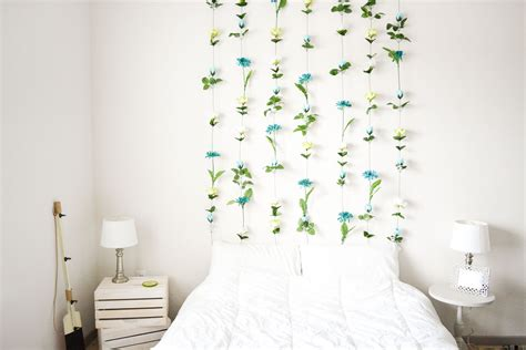How To Hang A Headboard Without Nails by Diy Flower Wall Headboard Home Decor Sweet Teal
