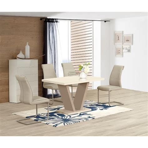 zara high gloss dining table in furniture mill outlet