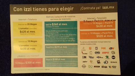 precios por paquetes izzi actualizacion de paquetes izzi telecom 2017 2018 tv