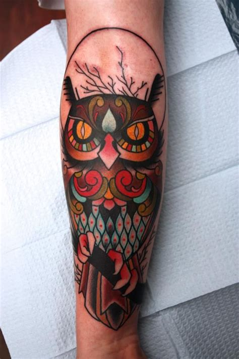 owl tattoo houston 30 awesome traditional owl arm tattoos traditional