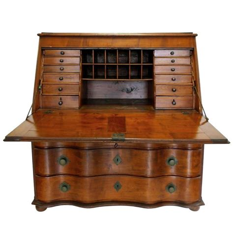 19th Century Swiss Drop Leaf Secretary Desk And Chest At