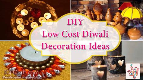 deepavali decorations home low cost diwali decoration ideas k4 craft