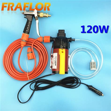 Pompa Air Elektrik High Pressure 12v 12v 120w high pressure self priming electric car wash washer washing machine water with