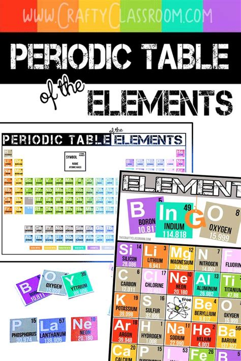 periodic table bingo periodic table bingo for middle school pictures to pin on