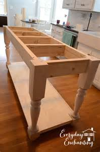 kitchen island with legs white modified kitchen island from the handbuilt home island plans diy projects