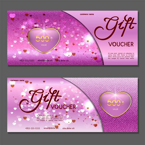 voucher templates for photoshop gift voucher luxury vouchers template vector 14 vector