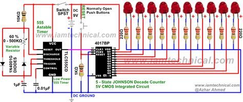 integrated circuit 4017 price astable 555 timer clocks cmos 4017 decade counter with variable resistance 0 500kω at 60