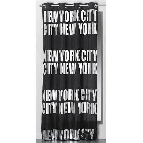 Rideau Noir Et Argent by Rideau Occultant Quot New York Silver Quot 140x260cm Noir
