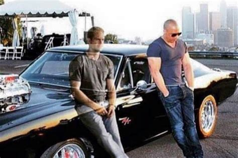 fast and furious 8 paul walker brother this photo of paul walker s ghost with vin diesel has