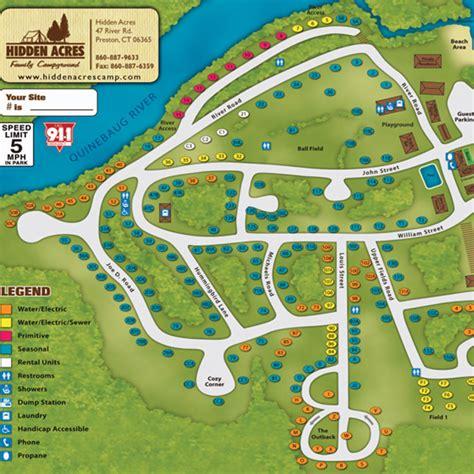 acres resort map acre cground cground in ct 06365