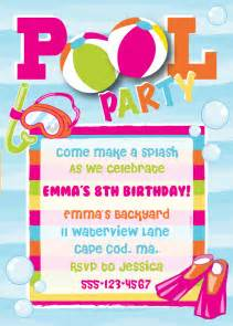 pool birthday invitation by anchorbluedesign on etsy