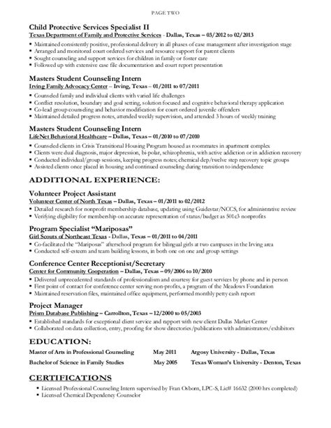 Child Protection Investigator Sle Resume by Dorene Fox Resume 2015