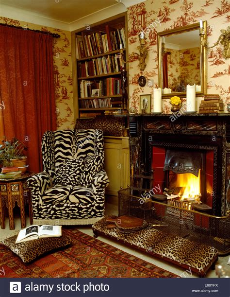 cheetah print living room ideas nurani org leopard print stool in country living room with trophy